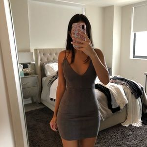 LF grey suede dress xs